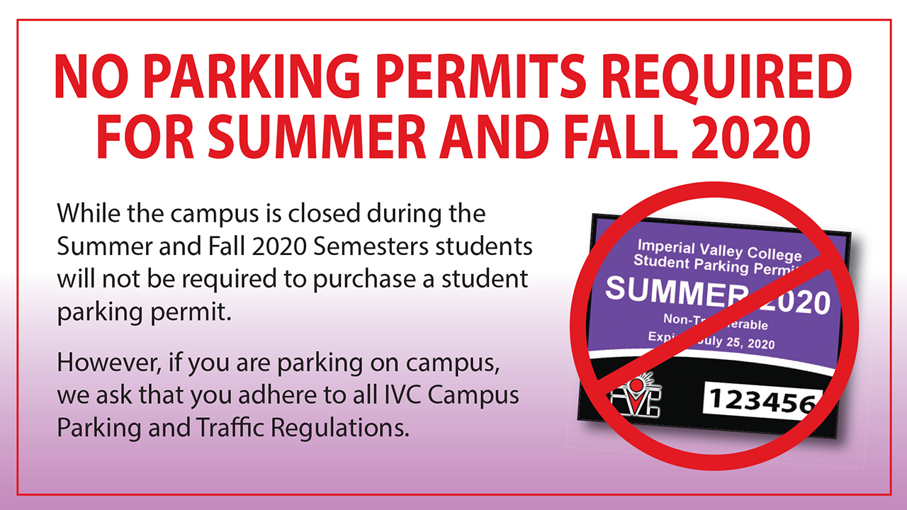 No Parking Passes Required for Summer and Fall 2020