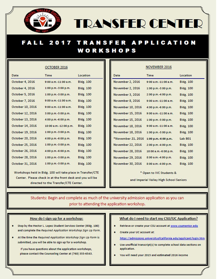 tc Fall 2017 App Workshop DATES FLYER
