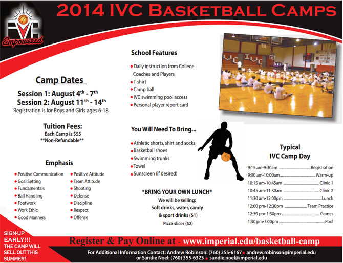 Basketball Camp Template  CityEsporaCo