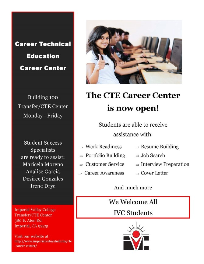 CTE CAREER CENTER IS NOW OPEN! - Student News - News ...