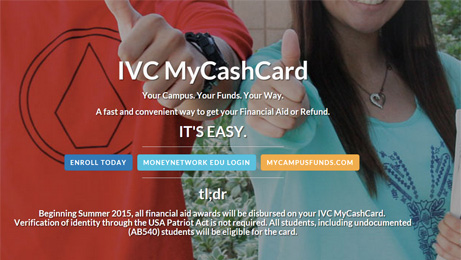 Click here to learn more about IVC's New MyCashCard