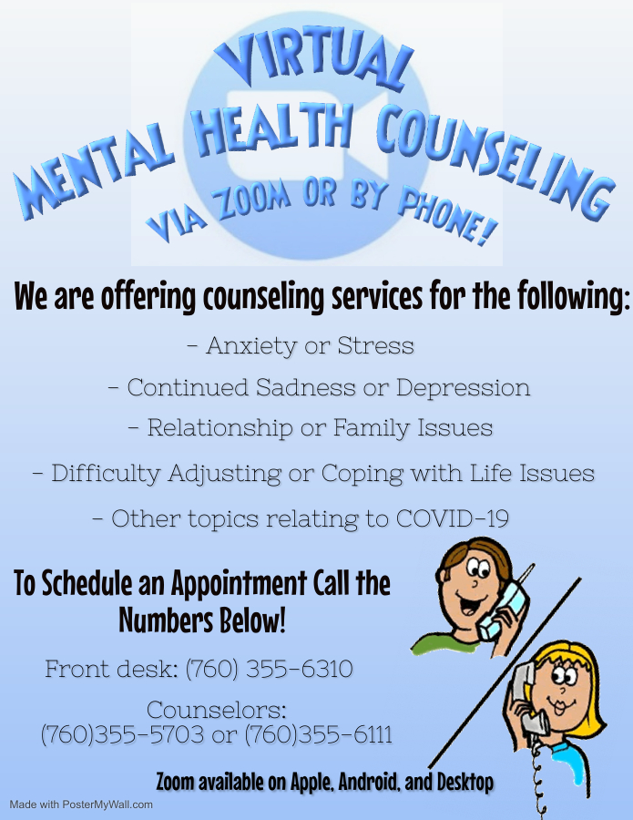 Zoom Counseling Flyer Made with PosterMyWall