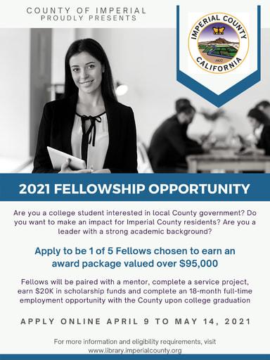 21-22 Imperial County Fellowship Scholarship Flyer