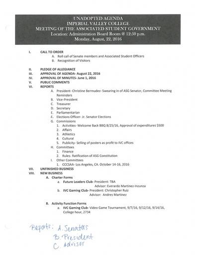 Agenda ASG 2016 08 22