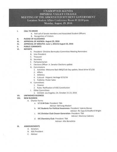 Agenda ASG 2016 08 29