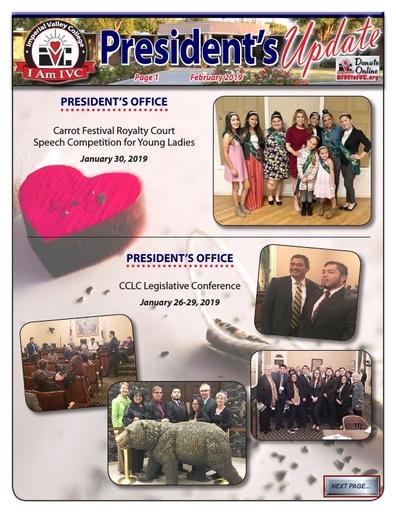 President's Update 2 - 2019-02-26