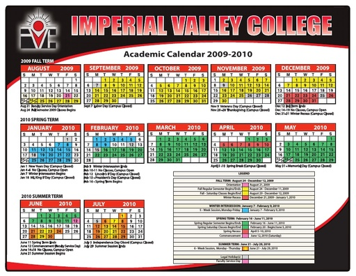 2009-10 IVC Academic Calendar