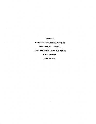 2006-06-30 Bond Audit