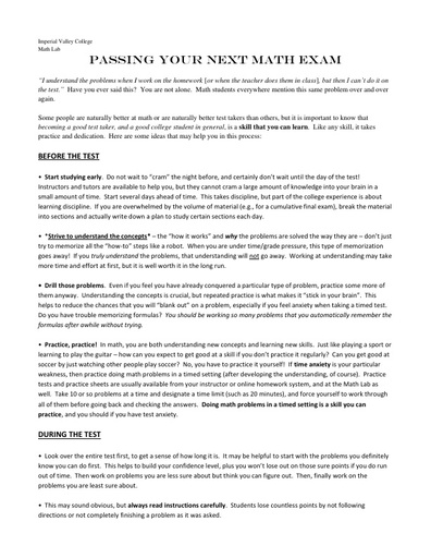 IVC factsheet passingtests