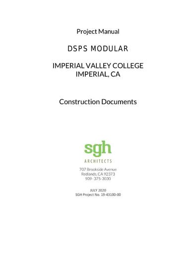 Bid No. 20-21-12 DSPS Modular Building - Specifications