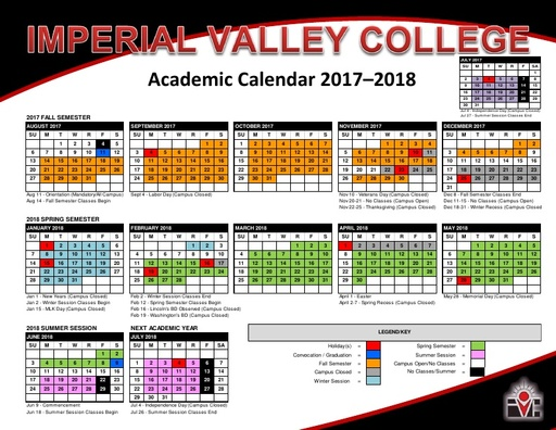 Academic Calendars   Courses & Programs   Imperial Valley College