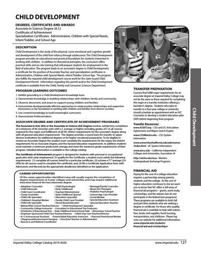 Child Development 2019-2020