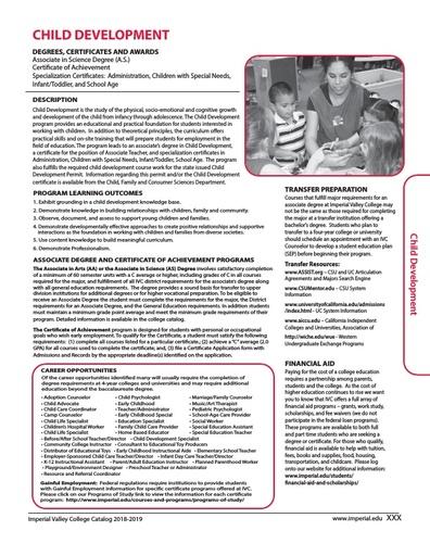 Child Development 2018-2019