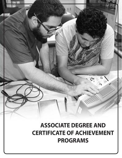 2018-2019 Catalog - Part 06 - Associate Degree and Certificate Programs