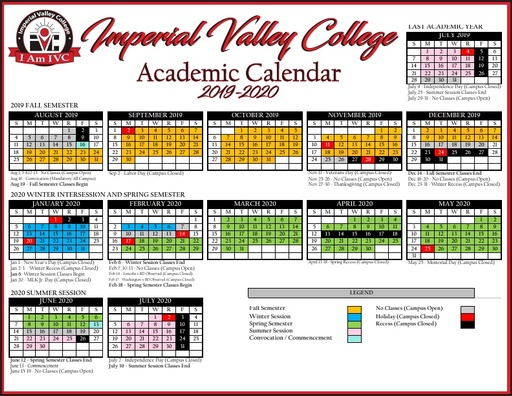 Saddleback College Calendar 2021-2022 Academic Calendars   Courses & Programs   Imperial Valley College