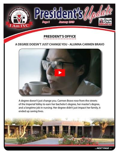 President's Update 1 - 2019-01-31
