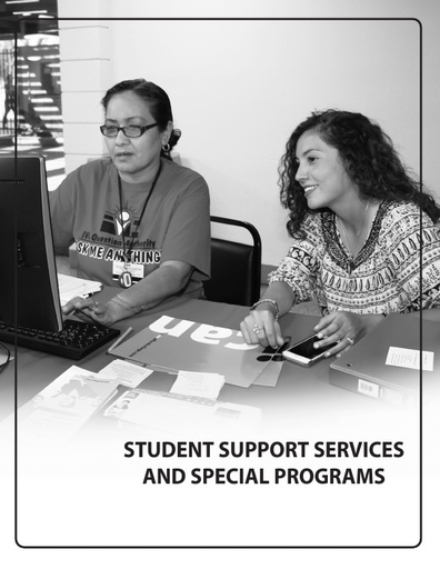 2019-2020 Catalog - Part 03 - Student Support Services and Special Programs