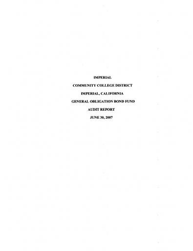 2007-06-30 Bond Audit