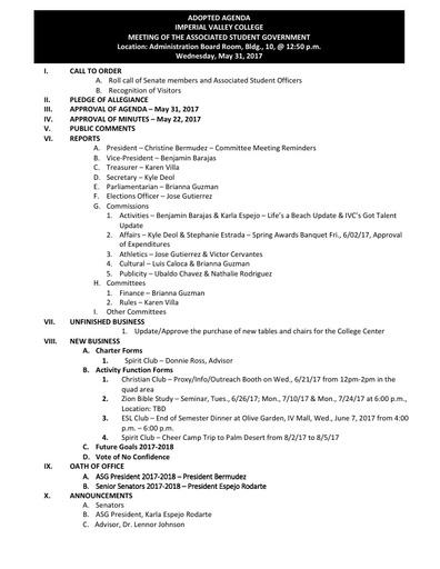 Agenda ASG 2017 05 31