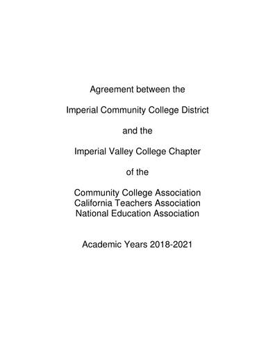CTA Contract 2018-2021